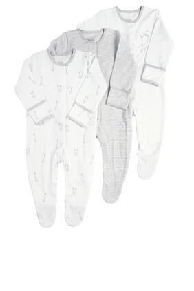 Pack of 3 Elephant Sleepsuits