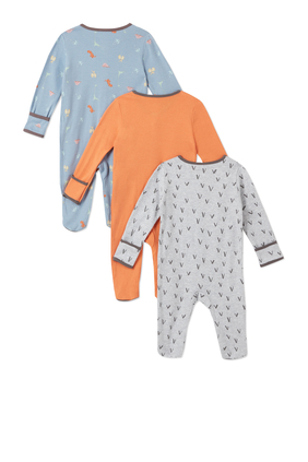 3Pack of  DINO Sleepsuits