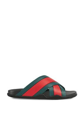 Green Slide Sandals