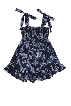 Aliane Shirred Tie Dress