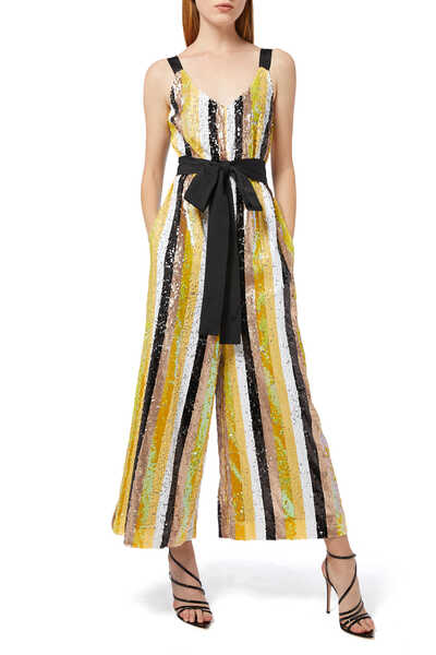 Puli Sequin Striped Jumpsuit