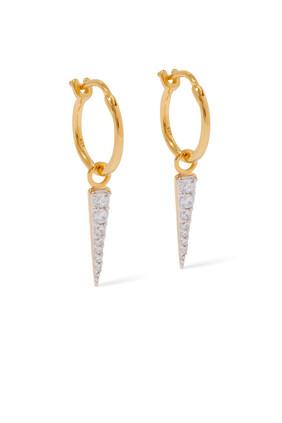 Mini Pavé Spike Charm Earrings