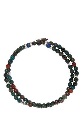 Double-Wrap Stone Bracelet