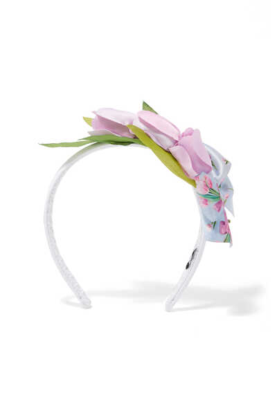 Floral And Bow Appliqué Hairband