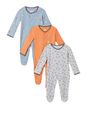 Dino Sleepsuit, Set of Three