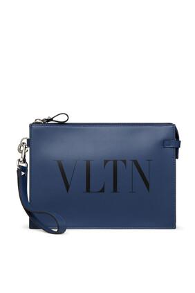 VLTN Leather Pouch