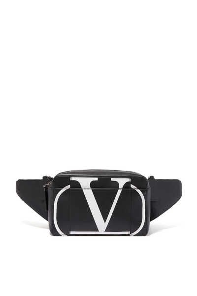 Valentino Garavani V-logo Leather Belt Bag