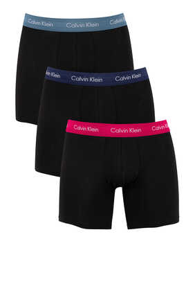 Cotton Boxer Briefs, Set of 3