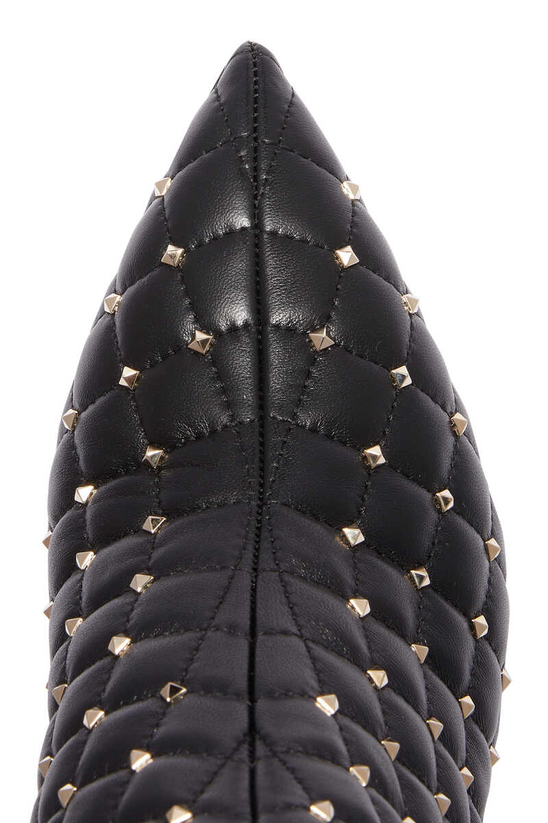 Valentino Garavani Quilted Point-Toe Boots image number 4