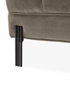 Sienna Savona Greige Velvet Bench