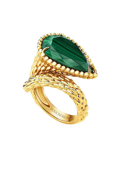 Serpent Bohème Malachite Large Ring