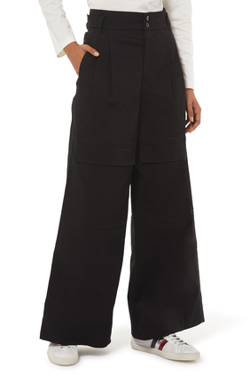 Flared Blended Trousers