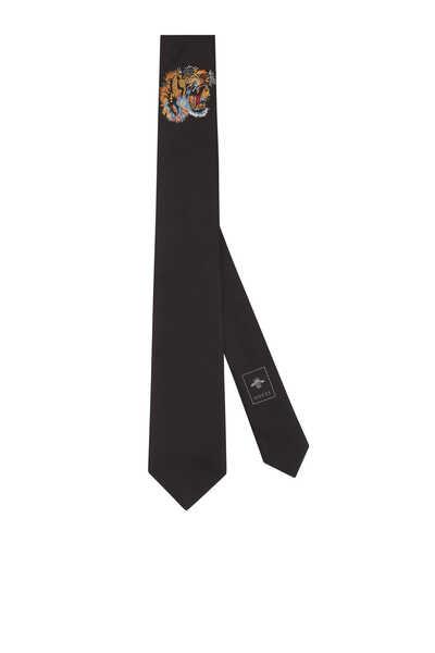 Tiger Underknot Silk Tie