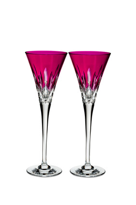 Waterford Lismore Pops Toasting Flutes, Set of Two