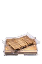 Grand Matbox Clear Silver Leaf Gold Set