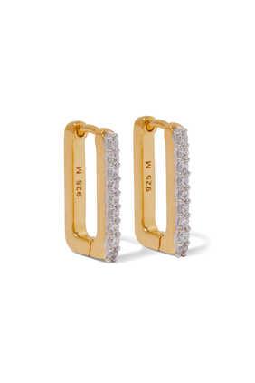 Ovate Pavé Hoop Earrings