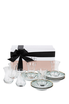 Mirrors Tea Cups, Set of Six