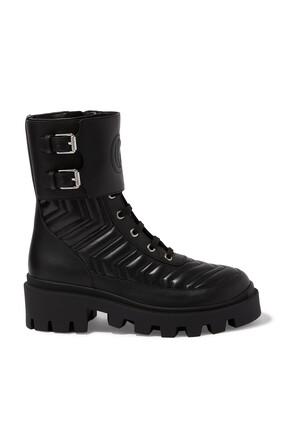 Interlocking G Leather Boots