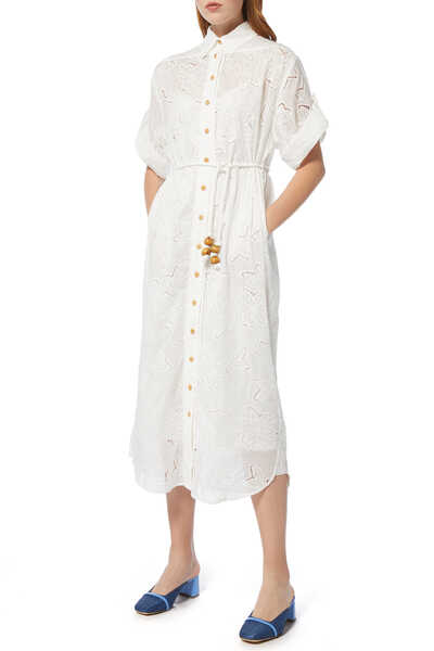 Kirra Embroidered Shirt Dress