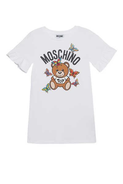 Teddy & Butterfly Print T-Shirt