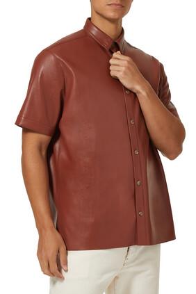 Adam Vegan Leather Shirt