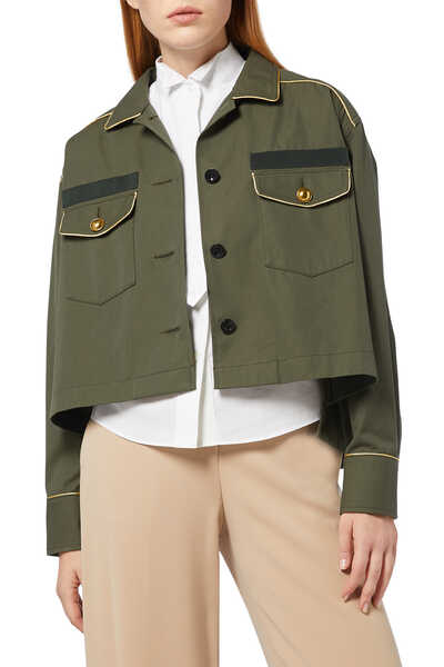 Fabric Combo Shirt Jacket