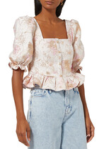 Orchid Jacquard Top