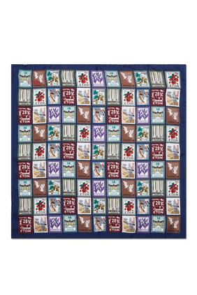 Postage Stamp Print Pocket Square