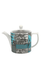 Spode Patchwork Willow Teal Teapot