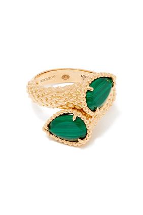 Serpent Bohème Malachite Ring