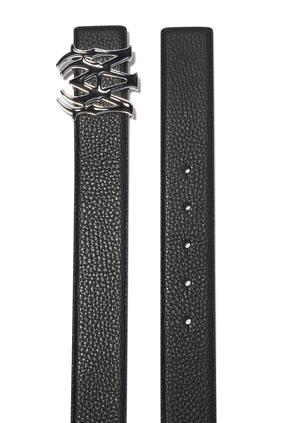 M.A. Black Enamel Buckle Belt