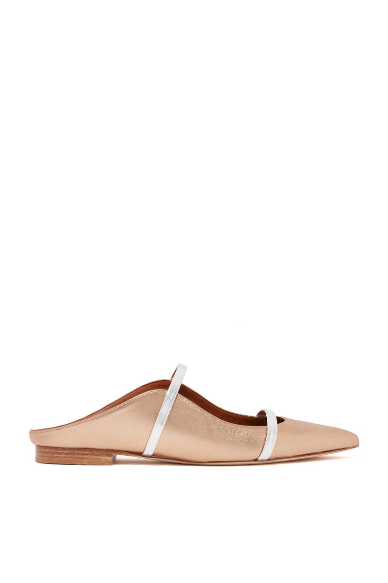 Maureen Metallic Flat Mules image number 1