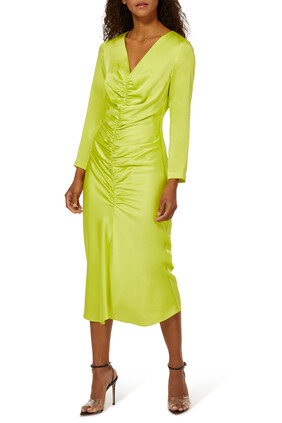 Ailyn Ruched Midi Dress
