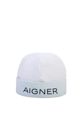 Logo Print Baby Hat