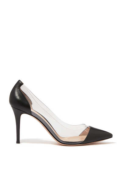 Nappa Leather Plexi Pumps