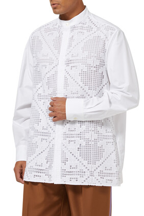 Lace Embroidery Shirt