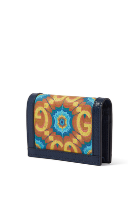 Gucci 100 Card Case Wallet in Jacquard