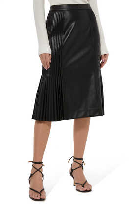 Bibi Faux Leather Skirt