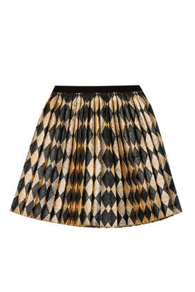 Lamé Pleated Skirt