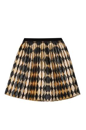 Lamé Pleated Skirt