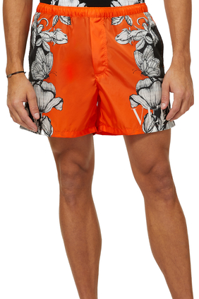 Dark Blooming Swim Shorts