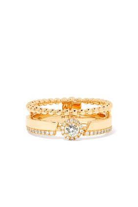 Rock Round Diamond Ring