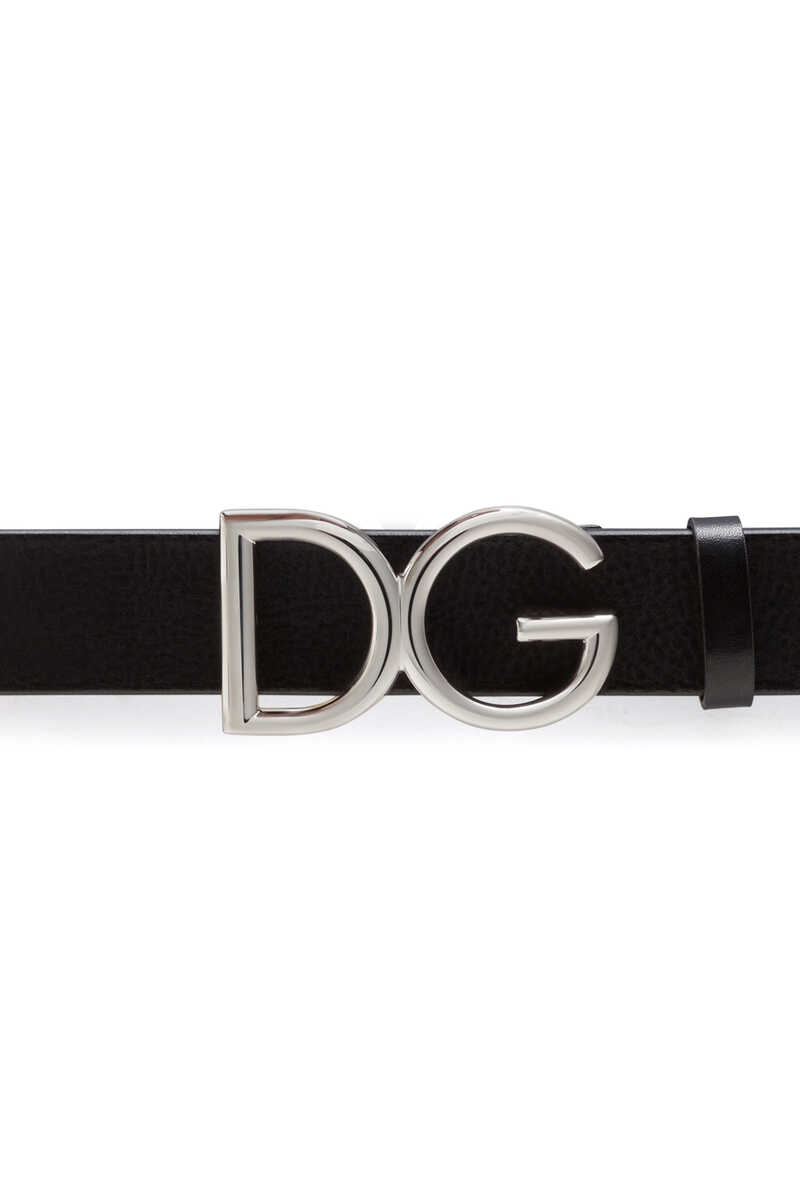 Tumbled Leather Belt With Monogram image number 2