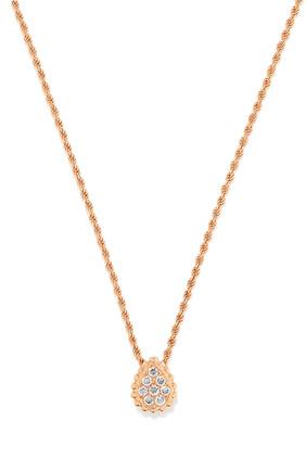 Serpent Bohème XS Motif Diamond Pendant in 18kt Rose Gold