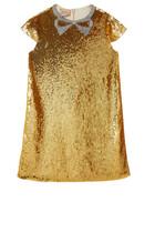 Embellished Bow Sequin Dress