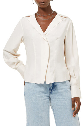 Fitted Long Sleeve Blouse