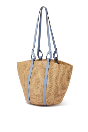 Large Woven Basket In fair-trade paper
