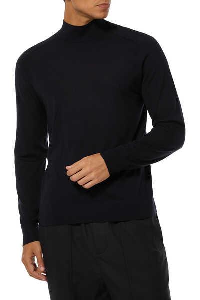 High Neck Regal Wool Sweater