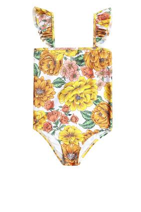Poppy Frill Shoulder One Piece Swimsuit