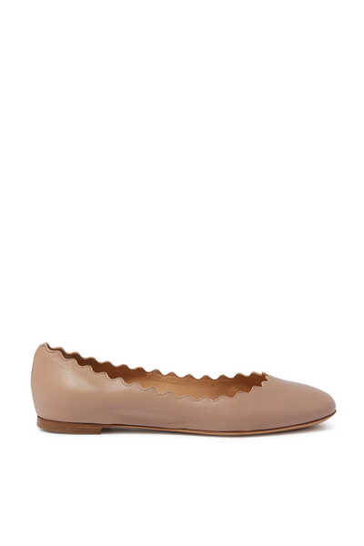 Lauren Scalloped Ballerina Pumps